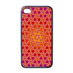Radial Flower Apple iPhone 4 Case (Black) Front
