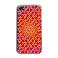 Radial Flower Apple Iphone 4 Case (clear) by SaraThePixelPixie