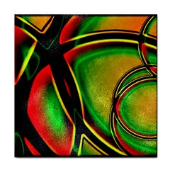 Multicolored Modern Abstract Design Ceramic Tile by dflcprints