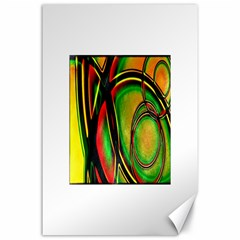 Multicolored Modern Abstract Design Canvas 24  X 36  (unframed) by dflcprints