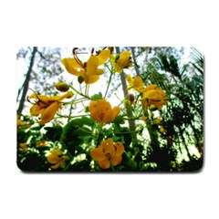 Yellow Flowers Small Door Mat by SaraThePixelPixie