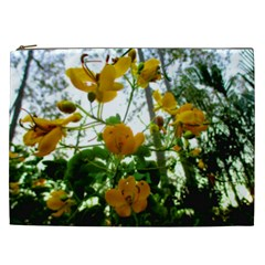 Yellow Flowers Cosmetic Bag (xxl)
