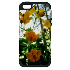 Yellow Flowers Apple Iphone 5 Hardshell Case (pc+silicone) by SaraThePixelPixie