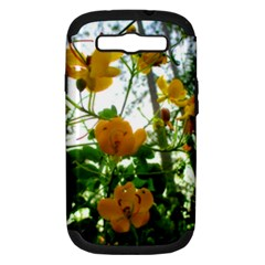 Yellow Flowers Samsung Galaxy S Iii Hardshell Case (pc+silicone) by SaraThePixelPixie