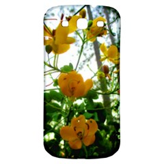Yellow Flowers Samsung Galaxy S3 S Iii Classic Hardshell Back Case by SaraThePixelPixie