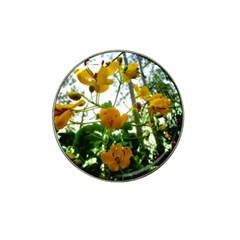 Yellow Flowers Golf Ball Marker 4 Pack (for Hat Clip)