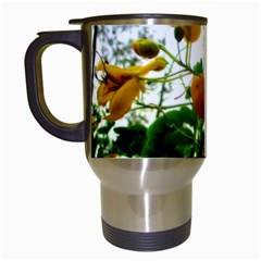 Yellow Flowers Travel Mug (white) by SaraThePixelPixie