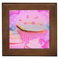 Cupcakes Covered In Sparkly Sugar Framed Ceramic Tile by StuffOrSomething