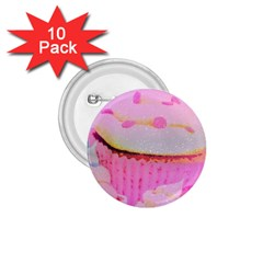 Cupcakes Covered In Sparkly Sugar 1 75  Button (10 Pack)