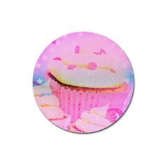 Cupcakes Covered In Sparkly Sugar Magnet 3  (round) by StuffOrSomething