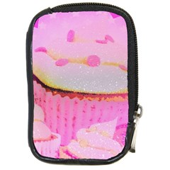Cupcakes Covered In Sparkly Sugar Compact Camera Leather Case by StuffOrSomething