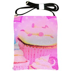 Cupcakes Covered In Sparkly Sugar Shoulder Sling Bag by StuffOrSomething