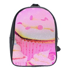 Cupcakes Covered In Sparkly Sugar School Bag (xl)