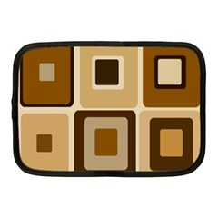 Retro Coffee Squares Netbook Sleeve (medium)