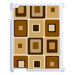 Retro Coffee Squares Apple Ipad 2 Case (white) by SendCoffee