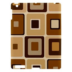 Retro Coffee Squares Apple Ipad 3/4 Hardshell Case
