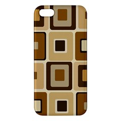 Retro Coffee Squares Apple Iphone 5 Premium Hardshell Case by SendCoffee