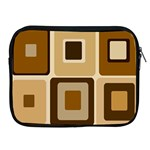 Retro Coffee Squares Apple iPad Zippered Sleeve Front