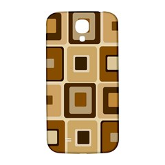 Retro Coffee Squares Samsung Galaxy S4 I9500/i9505  Hardshell Back Case
