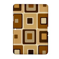 Retro Coffee Squares Samsung Galaxy Tab 2 (10 1 ) P5100 Hardshell Case