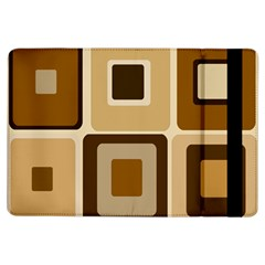 Retro Coffee Squares Apple Ipad Air Flip Case