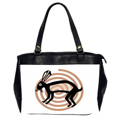 Mimbres Rabbit Oversize Office Handbag (two Sides) by MisfitsEnterprise