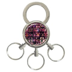 Physical Graffitied 3 Ring Key Chain