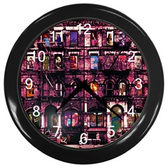 Physical Graffitied Wall Clock (black) by SaraThePixelPixie
