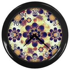 Luxury Decorative Symbols  Wall Clock (black) by dflcprints