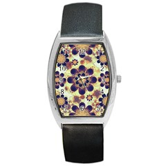 Luxury Decorative Symbols  Tonneau Leather Watch by dflcprints