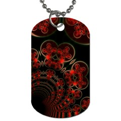 Phenomenon, Orange Gold Cosmic Explosion Dog Tag (two Sided)  by DianeClancy