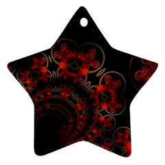 Phenomenon, Orange Gold Cosmic Explosion Star Ornament (two Sides) by DianeClancy