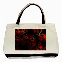 Phenomenon, Orange Gold Cosmic Explosion Twin Sided Black Tote Bag by DianeClancy