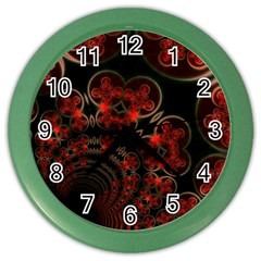 Phenomenon, Orange Gold Cosmic Explosion Wall Clock (color) by DianeClancy