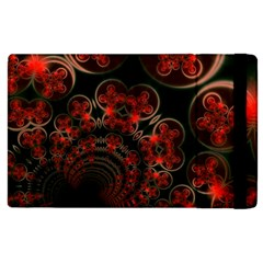 Phenomenon, Orange Gold Cosmic Explosion Apple Ipad 2 Flip Case by DianeClancy