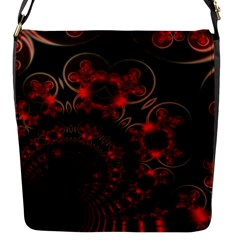 Phenomenon, Orange Gold Cosmic Explosion Flap Closure Messenger Bag (small) by DianeClancy