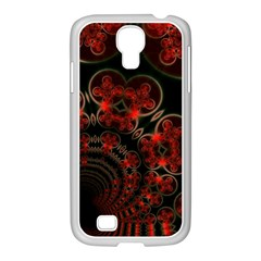 Phenomenon, Orange Gold Cosmic Explosion Samsung Galaxy S4 I9500/ I9505 Case (white) by DianeClancy