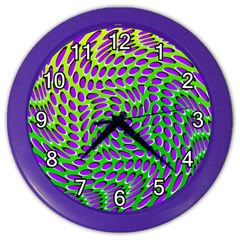 Illusion Delusion Wall Clock (color) by SaraThePixelPixie