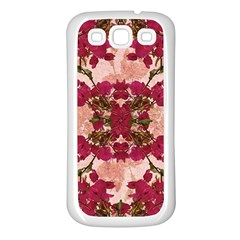Retro Vintage Floral Motif Samsung Galaxy S3 Back Case (white) by dflcprints