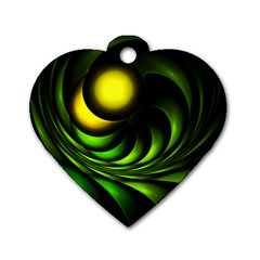 Artichoke Dog Tag Heart (two Sided)