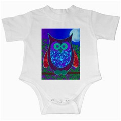 Moon Owl Infant Bodysuit by SaraThePixelPixie
