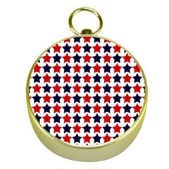 Patriot Stars Gold Compass by StuffOrSomething
