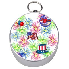 Patriot Fireworks Silver Compass by StuffOrSomething