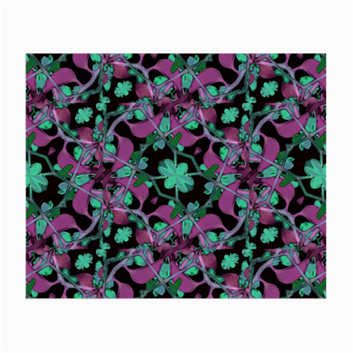 Floral Arabesque Pattern Glasses Cloth (Small, Two Sided)