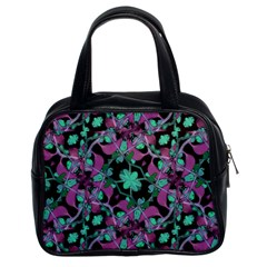 Floral Arabesque Pattern Classic Handbag (two Sides) by dflcprints