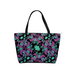 Floral Arabesque Pattern Large Shoulder Bag by dflcprints