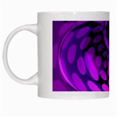Abstract In Purple White Coffee Mug by FunWithFibro