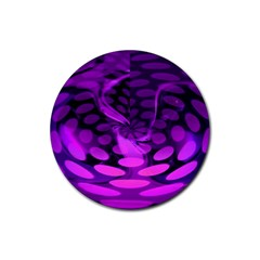Abstract In Purple Drink Coaster (round) by FunWithFibro