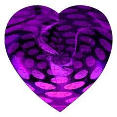 Abstract In Purple Jigsaw Puzzle (heart)