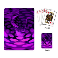 Abstract In Purple Playing Cards Single Design by FunWithFibro